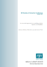 An actuarial approach to modelling vehicle injuries and fatalities